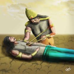 Crying Duryodhana by unnibabu