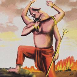 lord Ganesha Defeating demon Anlasura by unnibabu