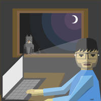 Lonely night and insomnia by unnibabu