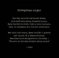 Sleepless night by unnibabu