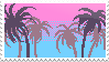 Palm trees Stamp by FlNS