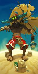 Beach Demon by xa-xa-xa