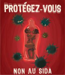 Non au sida by xa-xa-xa
