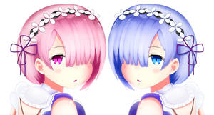 Rem and Ram by xenneon