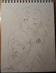 Akira and Ikari (OC characters) by LadyAlvarez