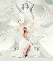 White Angel Dove by Graphuss