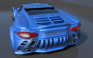 Storm GTR Concept Car Back by agwesh