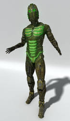 Space Soldier Front Rendering by agwesh