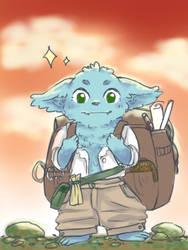 Idrys the goblin sorcerer by hanamina3