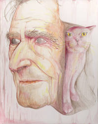 Old Man, also Cat. With a bag. by FattimusSlime