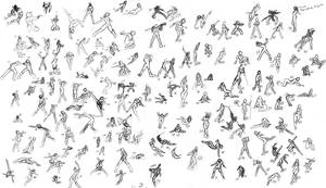150 Poses by SamusFairchild