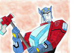 Optimus animated new drawing by ailgara