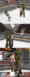 XPS wrestling: Dominate Seong-Mina part 1 by fulgore12
