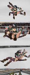 XPS wrestling: Dominate Seong-Mina part 2 by fulgore12
