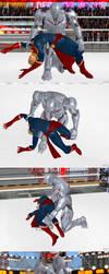 XPS wrestling: Ultron breaks Captain Marvel back by fulgore12