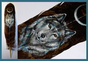 Feather painting 4 by Reza-malinova