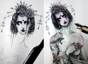 Geisha by Reza-malinova