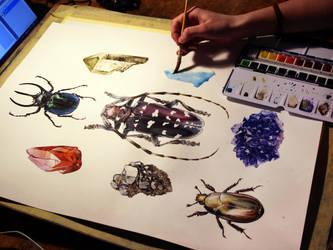 Beetles and crystals by Reza-malinova