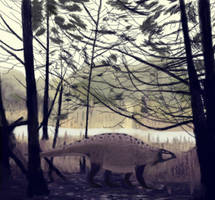 Lotosaurus adentus by casielles