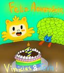 Happy Birthday, Vinicius and Tom! by YuliaRabbid