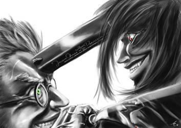 Alucard vs Anderson by alecyl