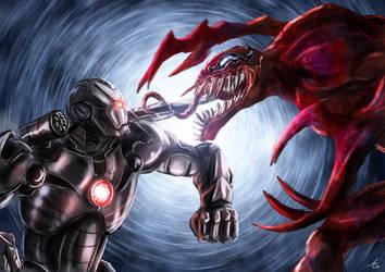 war machine vs carnage by alecyl