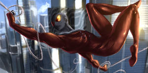 Scarlet Spider Speedpaint by alecyl