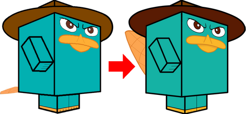 Perry the Platypus Comparison 3D by zienaxd