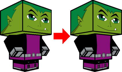 Beast Boy Comparison 3D by zienaxd