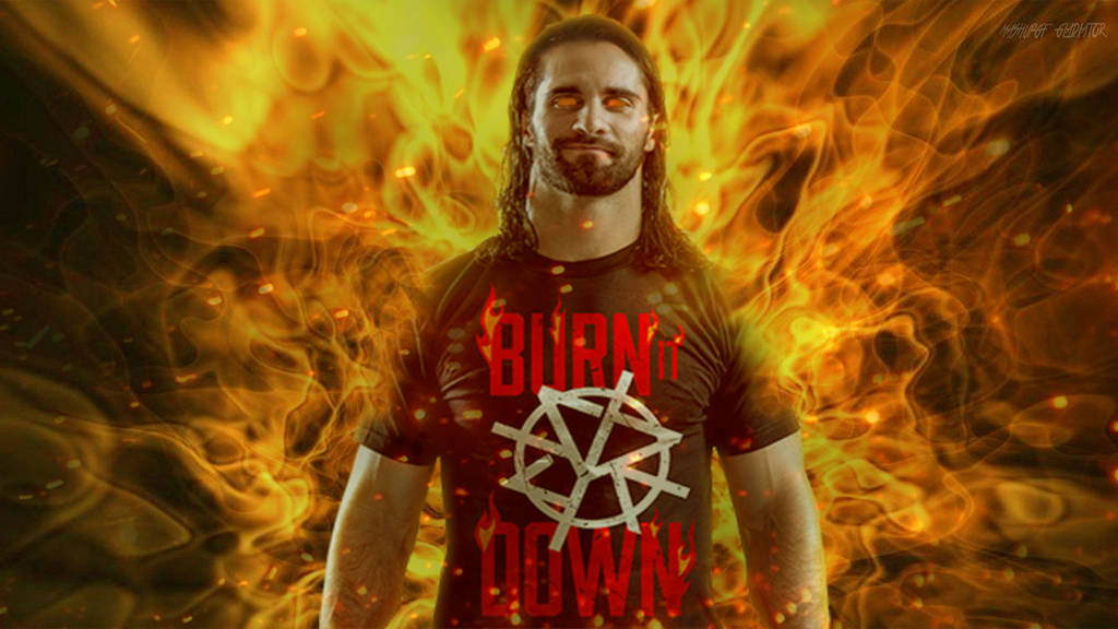 Seth Rollins 2nd Wallpaper 2017 Burn It Down By Mashupgfx On Deviantart