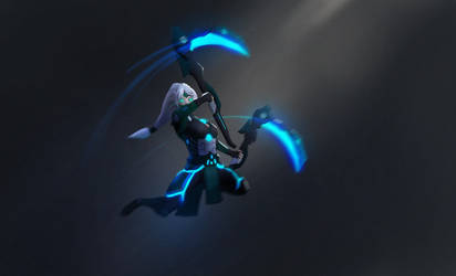 Project Akali (low poly hand painted) by DaoneOnly89