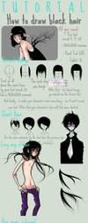 Black hair Tutorial - Paint Tool SAI by poliip