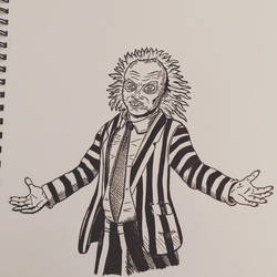 Inktober 2016, Day 2 - Beetlejuice by EricAndersonCreative
