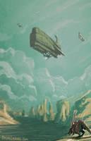 Science Fiction Fantasy Concept Space Ship Creatur by BrianLindahl