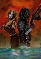 Lobo and Harley by simon-artist