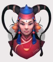 Mongolian Beauty by Erilain
