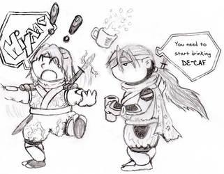 Hayate and Hayabusa by anubisus