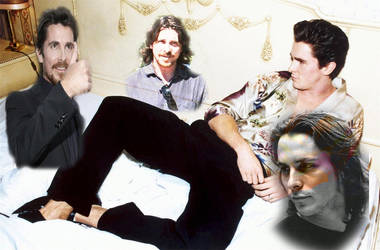 Christian Bale by Blaclin