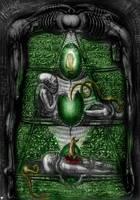 Giger Remake - Alien Hieroglyphs by METALMAXEDDIE777