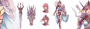 Final Fantasy XIII Lightning  Two Worlds Warrior by Magochocobo