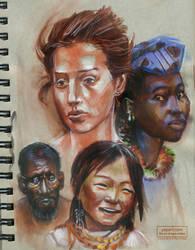 Sketchbook Color Head Studies by PaulPhillips