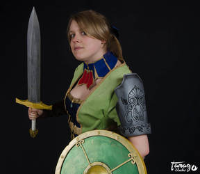 Cassandra, Soul Calibur 2, green suit. by fairyTinga