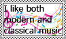 Modern and Classical music stamp by Priveto4ka