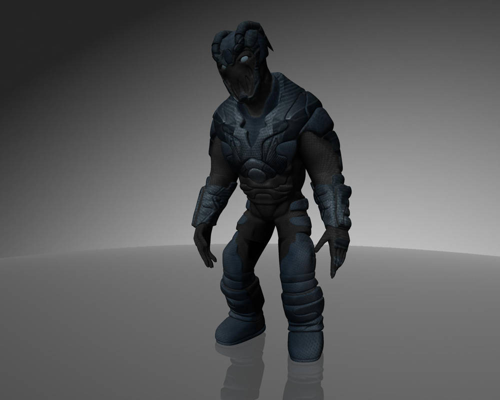 Sinister Blue Beetle by dead82