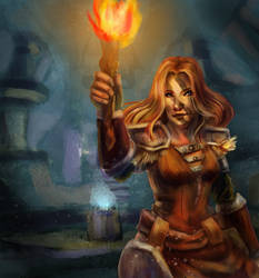 Aela the huntress by vailetnatsume