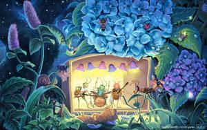 music concert in botanic garden by Ayerslibrary