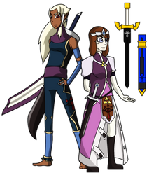 Wand of Gamelon Redesigns 1: Zelda and Impa by Soul-Droid