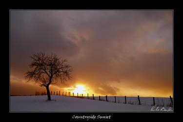 Countryside Sunset by plbeaulieu