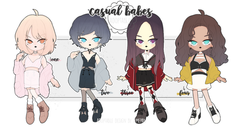adopt: casual babes Nov Batch (2/4 OPEN) by amepan