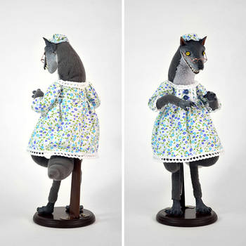 Big Bad Wolf in Grandma's Nightgown by falauke